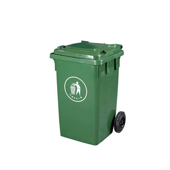 HDPE Plastic Dustbin with Wheels Outdoor