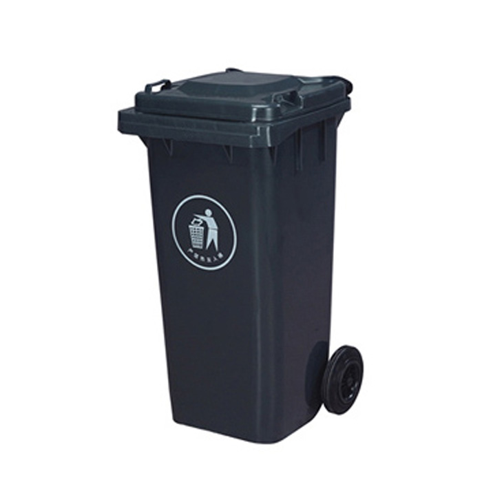 HDPE Mobile Waste Plastic Trash Can