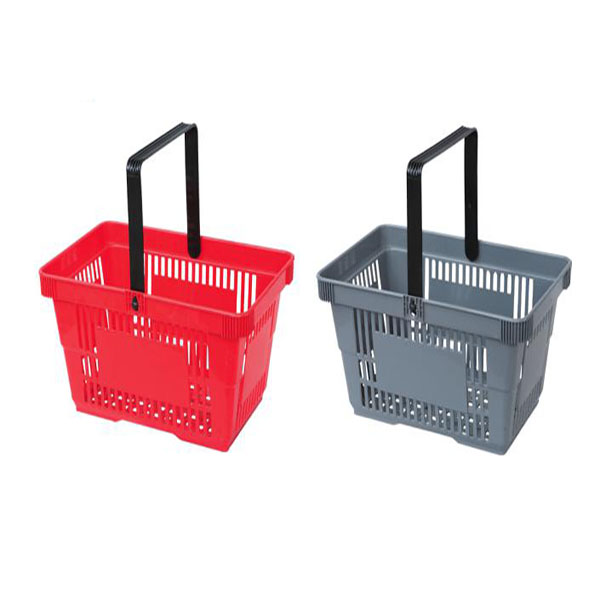 Supermarket Plastic Basket with Single Handle