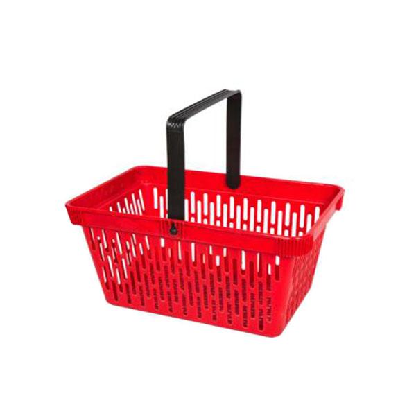 Supermarket Plastic Basket with Single Handle