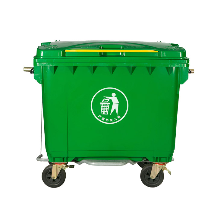 Wholesale Lidded 660 Liter Plastic Garbage Waste Bin