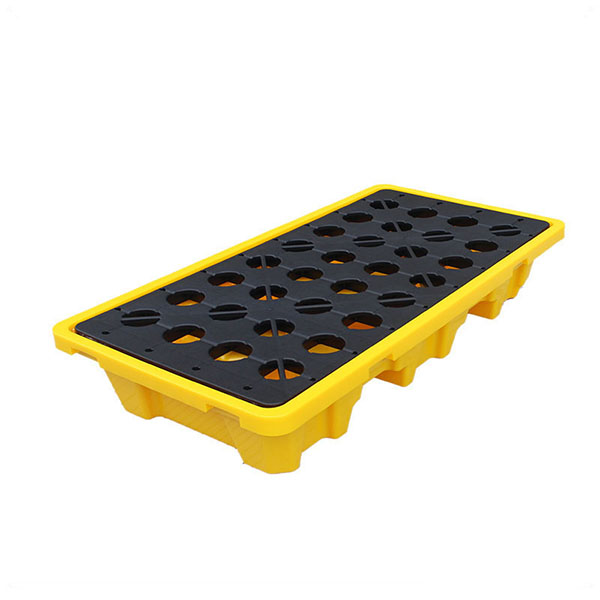 Yellow Detachable Plastic Spill Containment Pallet