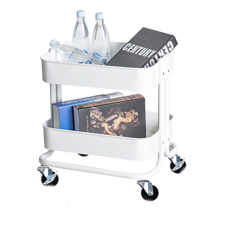 Mobile Trolley With Wheels Expandable Multi-function Rotating Storage Rack