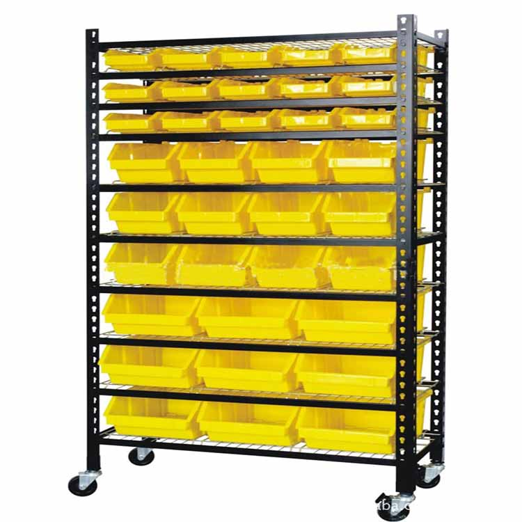 Plastic Storage Bin Racks Spare Parts Shelving
