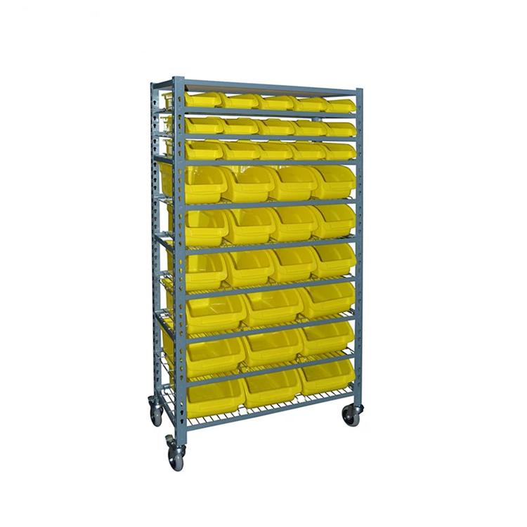 Plastic Storage Bin Racks Spare Parts Shelving