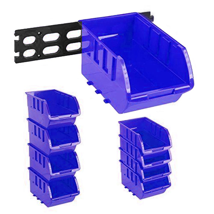 Industrial Warehouse Stackable Plastic Parts Storage Boxes Bins