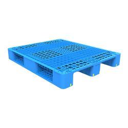 Three-runner Blue Plastic Pallet
