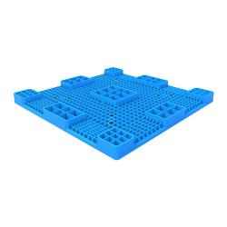 HDPE Solid Deck Ground Plastic Pallet with Nine Runner