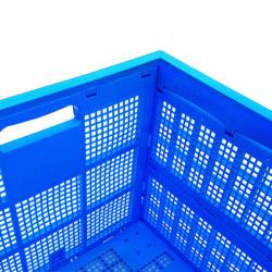 Basket Crate Box Stack Foldable Portable with Lid