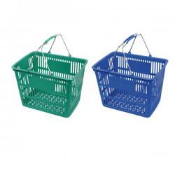 Metal Handle Shopping Basket