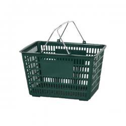 Thickened Portable Plastic Supermarket Shopping Basket