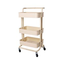 Rolling Metal Storage Trolley Mobile With Caster Wheels