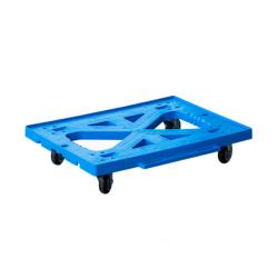 Plastic Blue Color Four-wheel Wheel  Moving Dolly