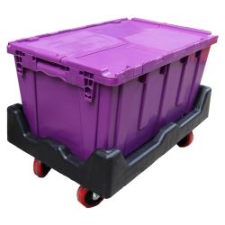Attached Lid Container Stacking and Nesting Crates Manufactures